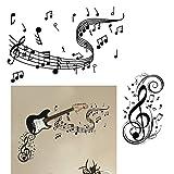 VINFUTUR Pegatinas Pared Música Decorativas, 2 Juego Pegatinas Pared de Notas Musicales Vinilos Pared Música para Decoración de Hogar Dormitorio Oficina
