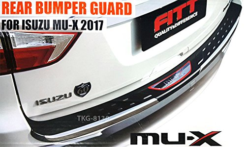 K1AutoParts Rear Outer Bumper Guard Sill Step Plate Protector Trim For Isuzu MU-X MU X 2017 2018