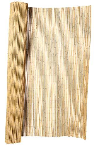 Hiss Reet® Bambus Sichtschutz, Bambusmatte I Perfekter Windschutz & Sichtschutz für Balkon, Zaun & Garten I Verschiedene Größen (150 x 300 cm)