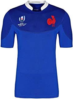 2018-19 World Cup France Home, Men's Rugby Jersey Women's Football Jersey Casual Sports T-Shirt Outdoor Polo Shirt