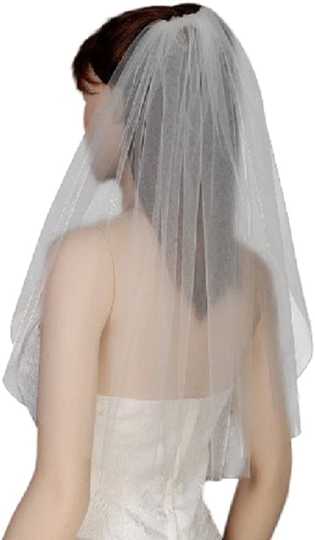 Shop Ginger Wedding Womens Elbow bluesher 1 Tier Bridal Cut Edge Veil