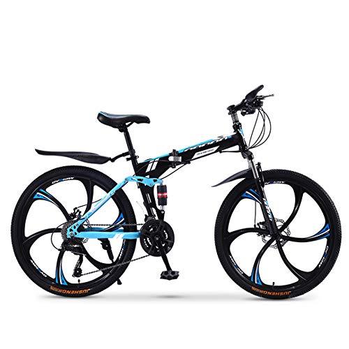 XWDQ Mountainbike Fahrrad Erwachsene Falten 20/24/26 Zoll Doppel Stoßdämpfende Off-Road Speed Racing Jungen Und Mädchen Fahrrad,26inch,30speed