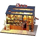 Casa De Muñecas De Bricolaje Tienda De Helados De Postre De Bricolaje Casa De Muñecas De Madera Muebles En Miniatura con Kits De Led Casas De Muñecas Ensamblar Juguetes Regalo para Niños Regalo Perfe