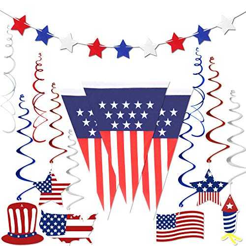 4th of July Decorations , Fourth of July Patriotic Party Decorations Supplies, Pack of 14 | Include...