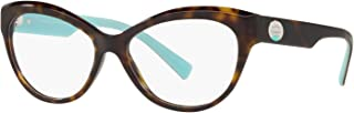 Tiffany & Co. TF 2176 Eyeglasses for Women Prescription Frame 2019 Collection (Dark Havana 8015, 51)