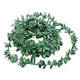 WINOMO Blätter Girland 7.5m Künstliche Laub Efeu Deko/grüne Rebe Pflanz für Hochzeit Party Zeremonie DIY Handwerk