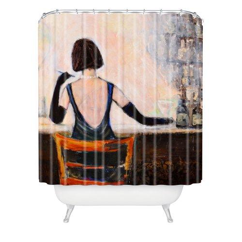 DENY Designs Lana Greben Duschvorhang, Motiv Frau, ca. 177,9 x 182,9 cm