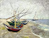Pinturas famosas cielo estrellado carteles de Van Gogh y cuadros de arte de pared, ilustraciones de café de sala de estar, pintura de lienzo sin marco A8 60x90cm