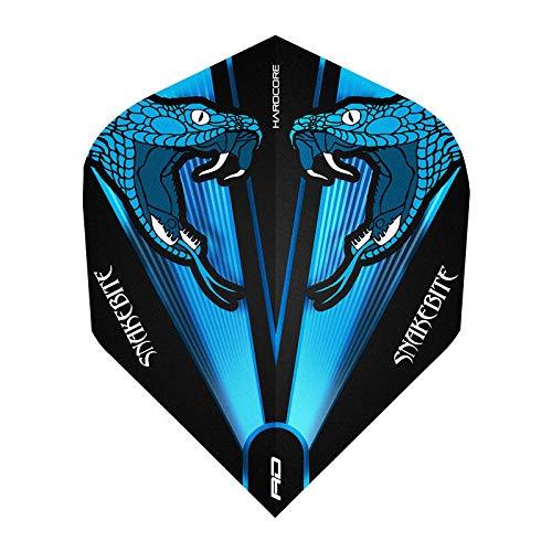 Rode draak Hardcore Peter Wright Snakebite Blauw Transparant Dart Vluchten - 3 sets per pack (9 vluchten in totaal)