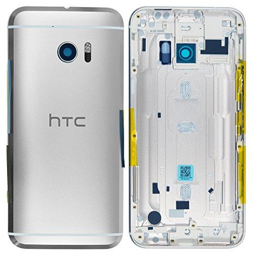 Unbekannt Original HTC Akkudeckel Silver/Silber für HTC 10 (Akkufachdeckel, Batterieabdeckung, Rückseite, Back-Cover)