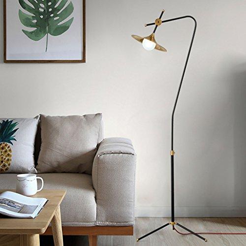 Staande lamp Staande lamp, NoordeEuropa Moderne ijzeren lamp woonkamer salontafel slaapkamer glazen kap drie poten staande lamp LED