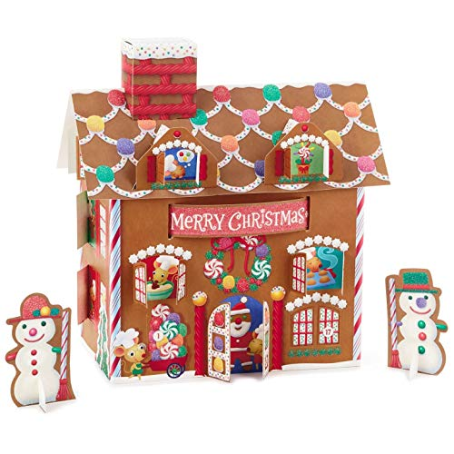 Hallmark 3D Gingerbread House Advent Calendar Decorative Accessories
