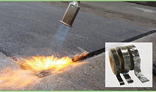 Asphalt-Reparaturband, 50 mm breit, 10 m lang, für Auffahrten und Wege