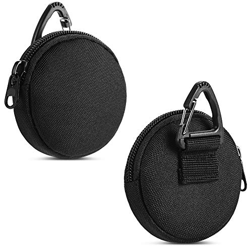 Small Tactical Pouches, Round Coin Purse Keychain, Professional EDC Pouch Accessories Case for...