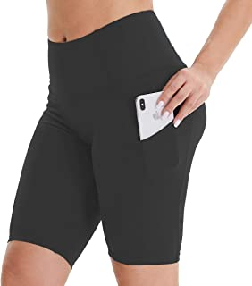 HIGHDAYS High Waist Biker Shorts with Pockets for Women - Tummy Control 4 Way Stretch Athletic Yoga Short Pants