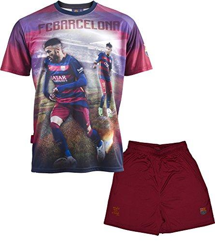 Conjunto camiseta + Short FC Barcelona–Neymar Jr–Colección oficial FC Barcelona–Talla infantil Azul...
