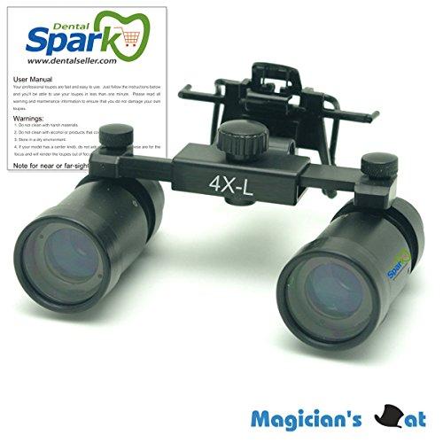 Spark 拡大鏡 4.0倍に拡大でき 専門 歯科用 精密440-540mm調整でき ヘッドルーペ メガネルーペ 折りたたみができ 製作 機械 作業 生物研究 開発 手術 歯科 医用 医者 眼科 外科にも使える 拡大鏡 虫眼鏡 双眼ルーペ 時計見ルーペ