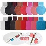 16 Pezzi Portapenne Adesivo con Anello, Elastico Clip per penna autoadesiva Artificiale per Taccuino, Tavoletta, Computer Portatile, Cellulare