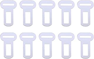 Ueetek Metallschnallen für Auto Sicherheitsgurt, geeignet für Hundesitz, 10 Stück