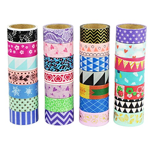 UOOOM Multi-pattern Beautiful Washi Tape Masking Tape deko klebeband buntes Klebebänder DIY scrapbook deko (10 x Patterns)