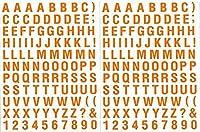 (シャシャン)XIAXIN 防水 PVC製 アルファベット ステッカー セット 耐候 耐水 数字 キャラクター ミニサイズ 表札 スーツケース ネームプレート ロッカー 屋内外 兼用 TSS-105 (2点, オレンジ)