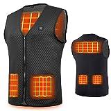 Veczom Heated Vest Heating Jacket USB Charging Vest for Men Women Hike (BlackL)