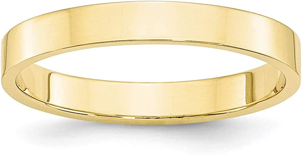10k Yellow Gold 3mm Flat Wedding Ring Band Size 5.5 Classic Fine Jewelry For Women Gifts For Her