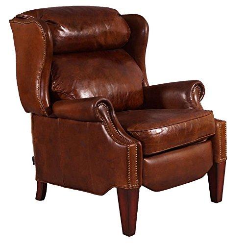 Relaxsessel Kent Leder Messingnieten Vintage Cigar Echtleder Sessel