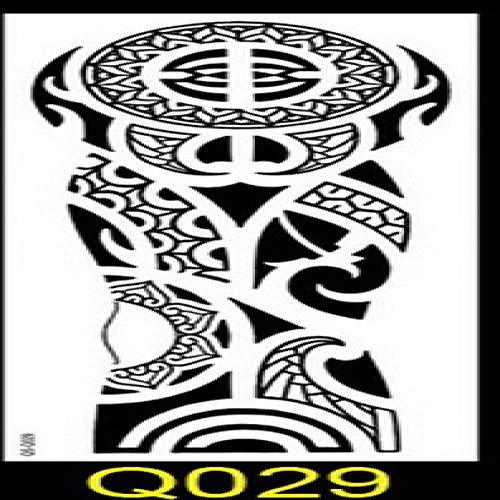 Handaxian Paon Autocollant Tatouage Bras 3pcsFlower Peinture Lotus Poisson Tatouage Corps de Transfert d'eau