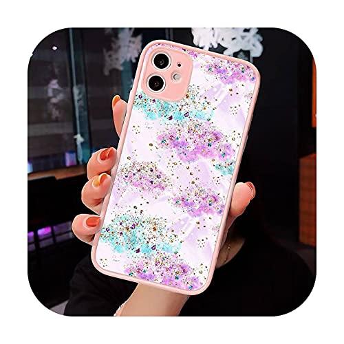 Moda caramelo colorido patrón teléfono caso mate transparente para iPhone 7 8 11 12 s Mini pro X XS XR MAX Plus cubierta funda-a6-iPhone12pro
