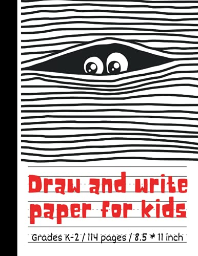 Draw and write paper for kids blank dotted lined notebooks: Primary story journal grades k-2. Early Creative Story Book for Kids. Draw and write ... Funny detective situation on the cover.