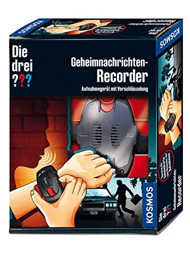KOSMOS Die drei ??? Geheimnachrichten-Recorder, Aufnahmegerät mit Verschlüsselung für Botschaften, Geheimnisse, Beobachtungen, Detektiv Spielzeug Set für Kinder ab 8 Jahre, mit Armband, Fan-Geschenk