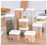 Vorratsdosen Frischhaltedosen Durchsichtig Kunststoff Luftdichte Aufbewahrungsboxen Schüttdosen Behälter Lagerung Kanister