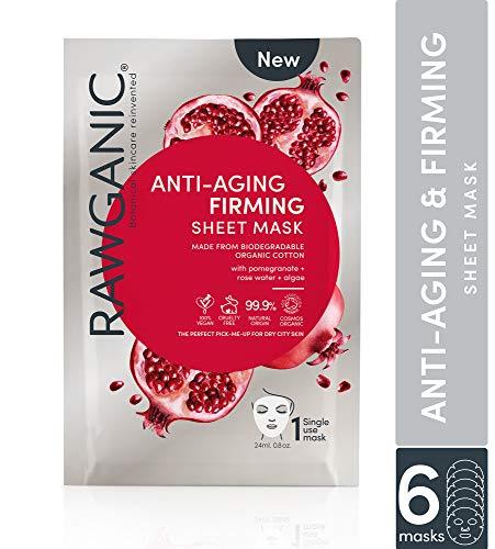 RAWGANIC Anti-aging & Firming Organic Sheet Mask | Gentle Hypoallergenic...
