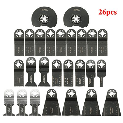 Save %20 Now! Hitommy 26pcs Oscillating Multitool Saw Blade Accessories kit for Fein Multimaster Bos...