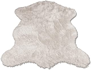 Classic White Sheepskin / Polar Bear Pelt Shape Rug - Top Quality Faux Fur Rugs - New From France (2x4, 3x5 & 5x7) (3x5 (actual 40