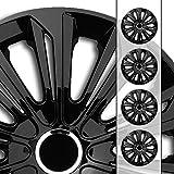 Eight Tec Handelsagentur (Größe und Farbe wählbar!) 16 Zoll Radkappen/Radzierblenden STR-Bandel SCHWARZ (Farbe Schwarz), passend für Fast alle Fahrzeugtypen (universell) – nur beim Radkappen König