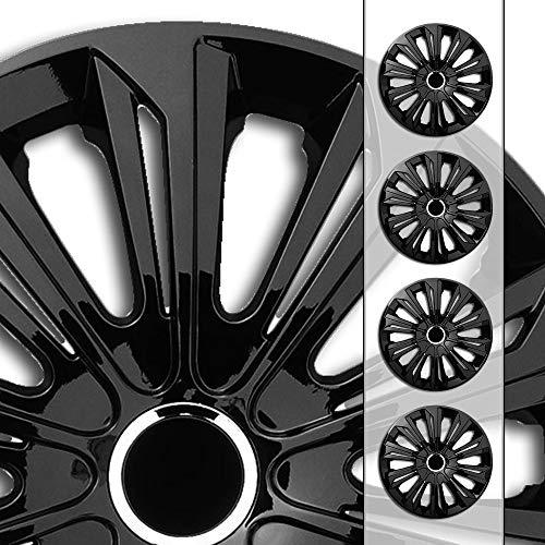 Eight Tec Handelsagentur (Größe und Farbe wählbar!) 15 Zoll Radkappen/Radzierblenden STR-Bandel SCHWARZ (Farbe Schwarz), passend für Fast alle Fahrzeugtypen (universell) – nur beim Radkappen König