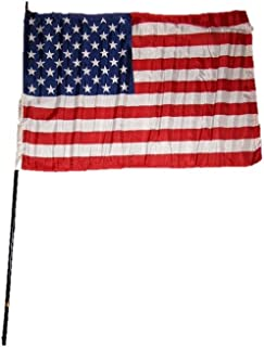 ALBATROS 2 ft x 3 ft USA American U.S.A. America 50 Star Black Wooden Classroom Stick Flag 2x3 for Home and Parades, Official Party, All Weather Indoors Outdoors