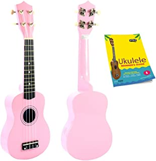 Star Soprano Ukulele 21 Inch with Beginner's Guide, Pink (XU21-PK)