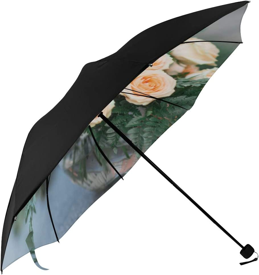 Women Umbrella Compact Wedding Underside Briders 67% OFF of fixed price Flowers Bouquet New Free Shipping