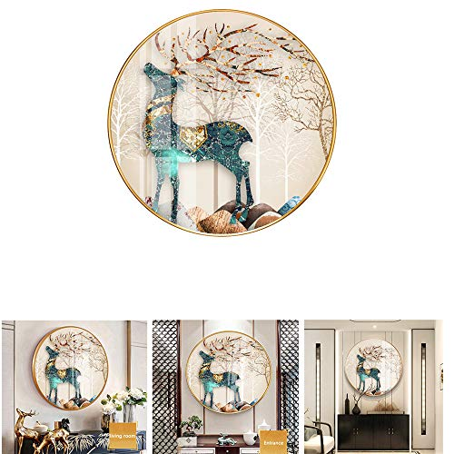 JXSD Crystal Diamond Pictures Arts Crafts for Home Wall Decor, Diamond Painting, Porcelain Crystal Surface, Waterproof, Dustproof and Scratch-Resistant, for Home Living Room Bedroom Decor