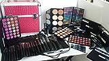 blush italia kit borsa professionale make up artist 120 ombretti matt shimmer blush ciprie rossetti matite mascara eyeliner kit 20 pennelli professionali
