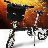 Bike Folding Bicycle Basket Small Pet Dog Carrier Front Handlebar Basket Bag