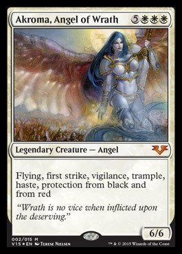 Magic: the Gathering - Akroma, Angel of Wrath (002/015) - From the Vault: Angels - Foil by Magic: the Gathering