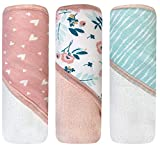 MODERN BABY 3 Pack Hooded Baby Bath Towel Set for Newborns Infants & Toddlers, Boys & Girls Baby Hooded Towels