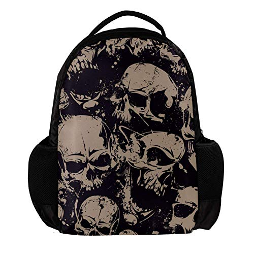 TIZORAX Vintage Dead Skull School Backpack Rucksack College Bookbag Travel Laptop Daypack Bag for Men Women