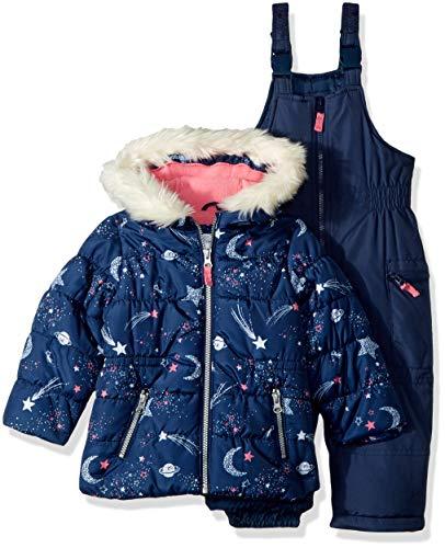 Carter's Girls' Toddler Heavyweight 2-Piece Skisuit Snowsuit, Blue, 4T