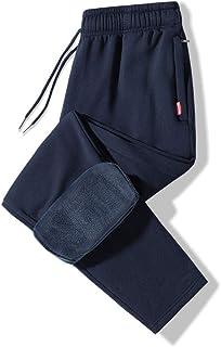 Pantalones de chándal de Lana para Hombre, Pantalones Rectos para Hombre, Pantalones de chándal de Terciopelo cálido de In...