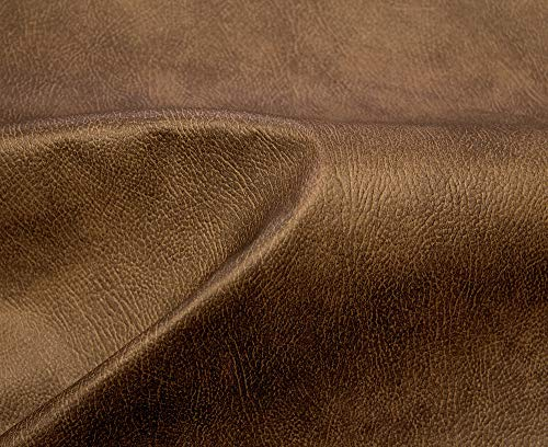 HAPPERS 0,5 Metro de Polipiel para tapizar, Manualidades, Cojines o forrar Objetos. Venta de Polipiel por Metros. Diseño Nacor Color Cuero Ancho ±140